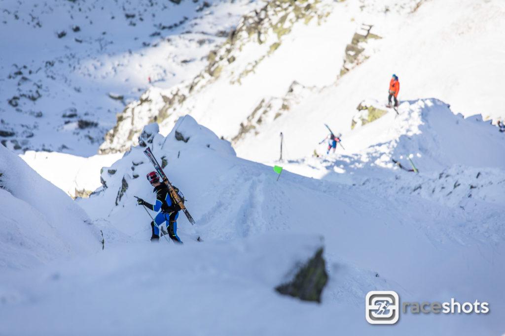 Skimo závod v Nízkých Tatrách Hore Dole Derešom
